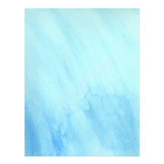 Blue Rain Storm Water Watercolor Paint Full Colour Flyer