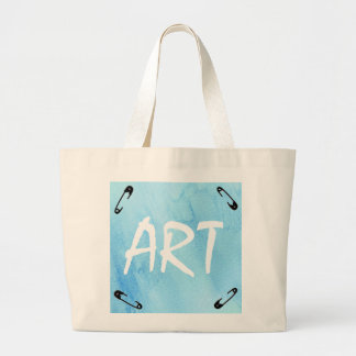 Blue Rain Storm Water Watercolor Paint Large Tote Bag