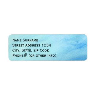 Blue Rain Storm Water Watercolor Paint Return Address Label
