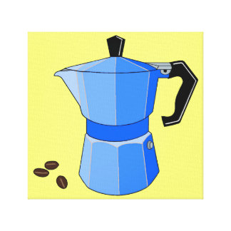 Blue Rainbow Espresso Canvas Print