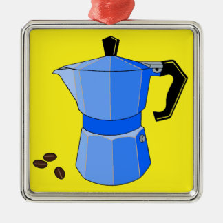 Blue Rainbow Espresso Metal Ornament