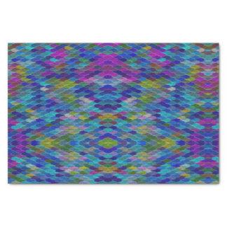 Blue Rainbow Magical Mermaid Scale Tissue Paper