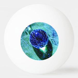 Blue Raindrops Water Pearls Wet Macro Funny Photo Ping Pong Ball