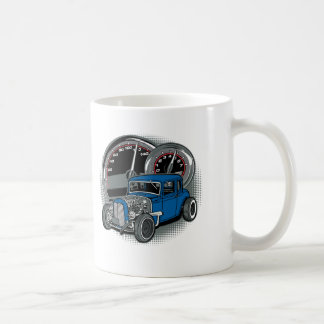 Blue Rat Rod Street Car Coffee Mug
