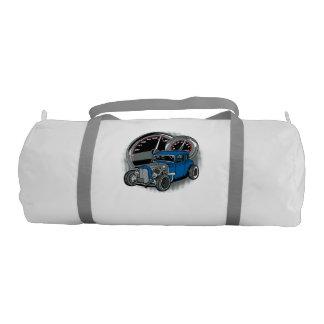 Blue Rat Rod Street Car Gym Bag