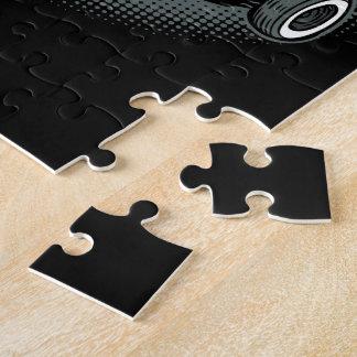 Blue Rat Rod Street Car Jigsaw Puzzle