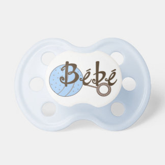 Blue Rattle Bebe Baby Pacifier