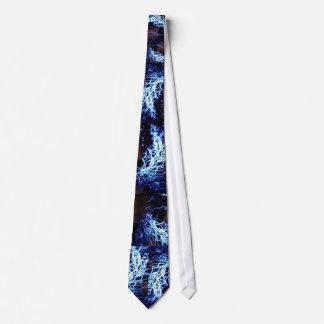 Blue rave tie