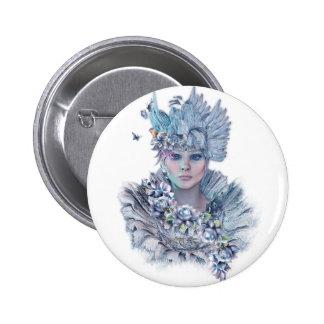 Blue Raven 2 Inch Round Button