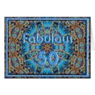 Blue Rays Fabulous 50 Card Template