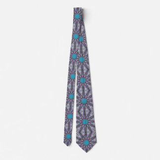 Blue Rays Graphic Star Tie