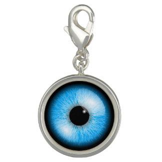 Blue Realistic Eyeball Halloween Charm