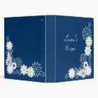 Blue Recipe Book Binder