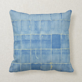 Blue rectangle abstract throw pillow