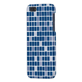 Blue Rectangle Mosaic Cover For iPhone 5/5S