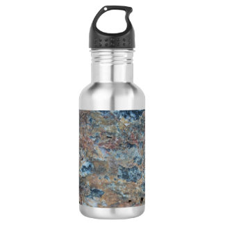 Blue Red Black Mineral Texture 532 Ml Water Bottle