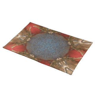 Blue Red Christmas Decoration Baubles Placemat
