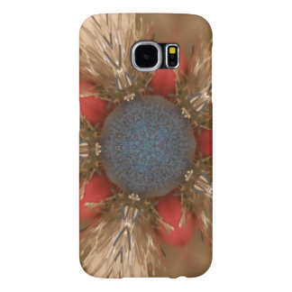 Blue Red Christmas Decoration Baubles Samsung Galaxy S6 Cases