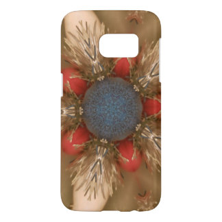 Blue Red Christmas Decoration Baubles Samsung Galaxy S7 Case