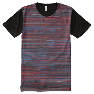 Blue-red horizontal rallado t-shirt