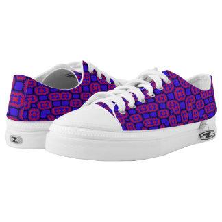 Blue red pattern Low-Top sneakers