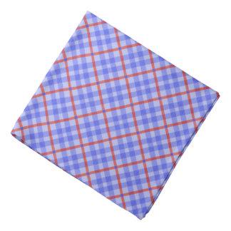 Blue, red tartan pattern, classic chequered tiles bandana