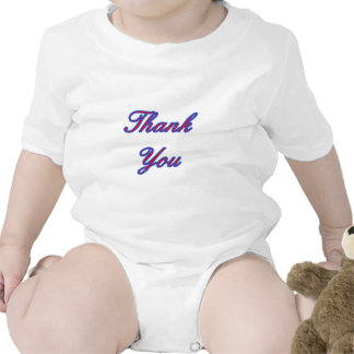Blue Red Thank You Design The MUSEUM Zazzle Gifts Bodysuit