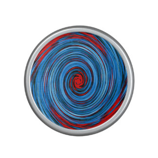 Blue Red White Black Swirl Abstract Pattern Bluetooth Speaker