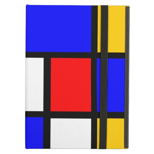 Blue red yellow Mondrian iPad Air Cover