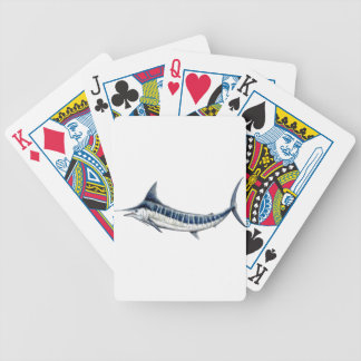 Blue-redbubble Marlin Bicycle Playing Cards