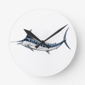 Blue-redbubble Marlin Clock