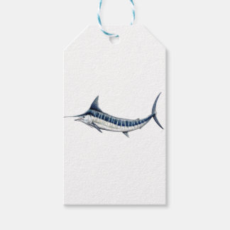 Blue-redbubble Marlin Gift Tags