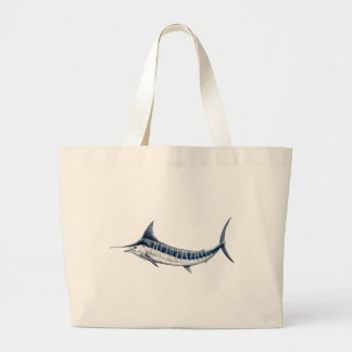 Blue-redbubble Marlin Large Tote Bag