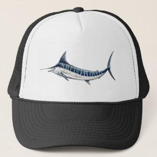 Blue-redbubble Marlin Trucker Hat