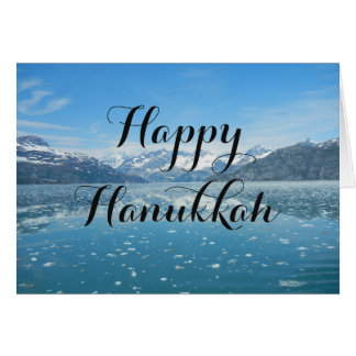 Blue Reflection Hanukkah Card