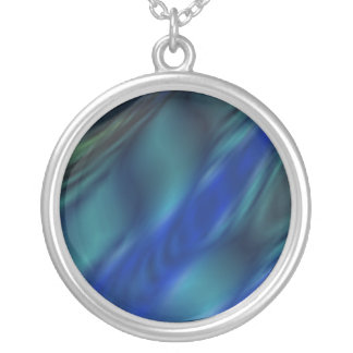 blue reflection silver plated necklace
