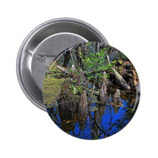Blue Reflections in the Slough (Fort Myers, FL)- F 2 Inch Round Button