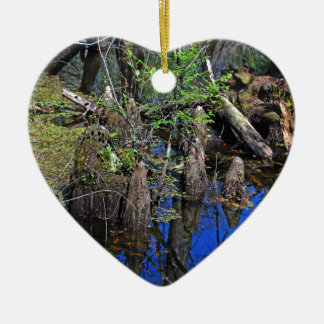 Blue Reflections in the Slough (Fort Myers, FL)- F Ceramic Ornament