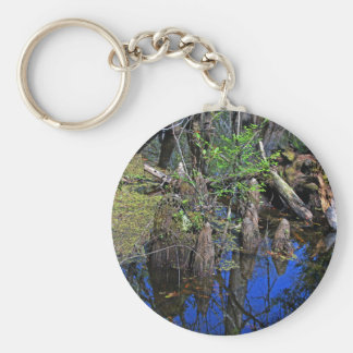 Blue Reflections in the Slough (Fort Myers, FL)- F Keychain