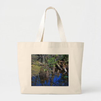 Blue Reflections in the Slough (Fort Myers, FL)- F Large Tote Bag