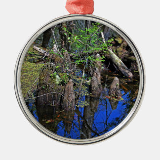 Blue Reflections in the Slough (Fort Myers, FL)- F Metal Ornament