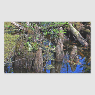Blue Reflections in the Slough (Fort Myers, FL)- F Sticker