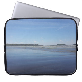 Blue Reflections of Rhossili Bay Laptop Sleeve