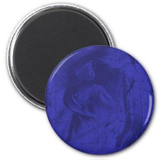 Blue Reflections Refrigerator Magnet