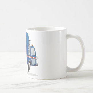 Blue Refuse Truck Coffee Mug