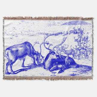 Blue Reindeer Throw