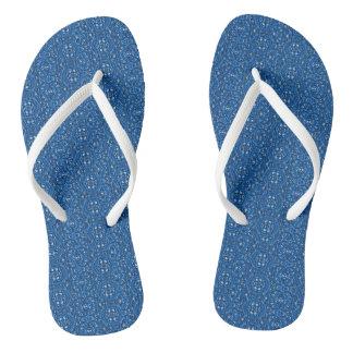 Blue Relief Flip Flops