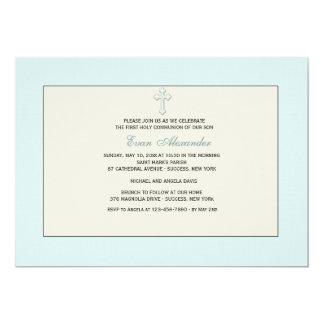 Blue Religious Invitation