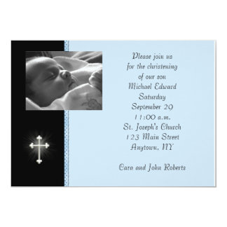 Blue Religious Photo Card