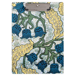 Blue Repeating Floral Pattern Clipboard